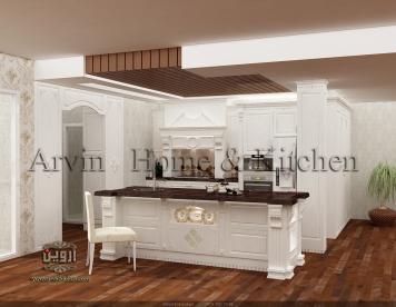 طراحی کابینت کلاسیک کابینت آروین